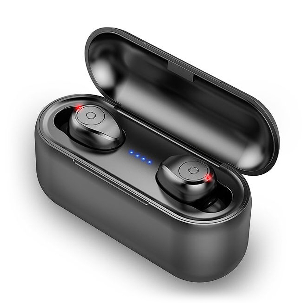 F9 TWS Earphones Wireless Headphone with 1500mAh Charging Box 120hours Standby Bluetooth V5.0 Earbuds Universal for Bluetooth-enabled Devices black