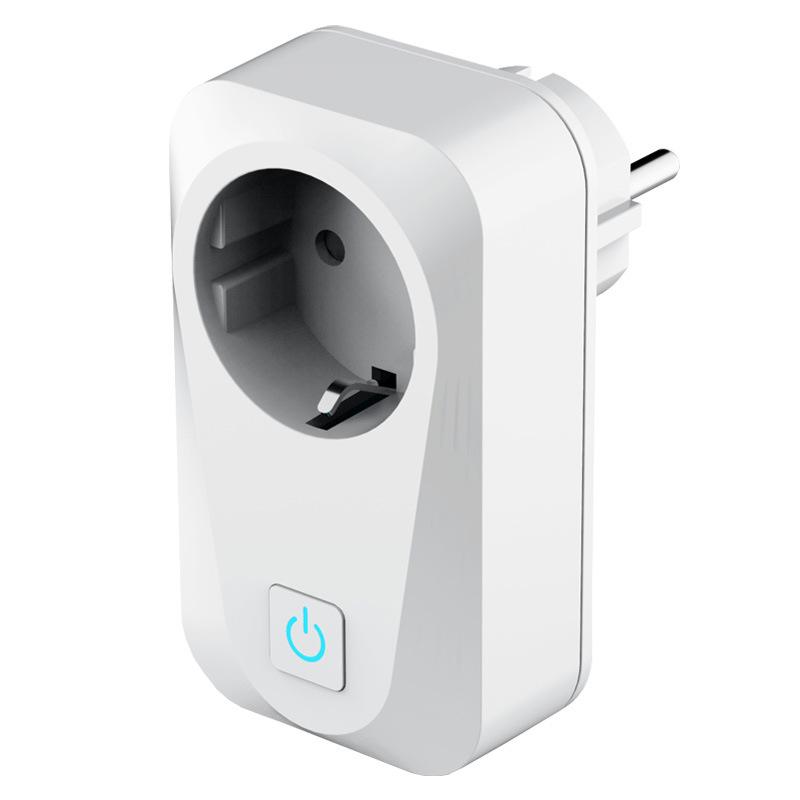 Smart Socket Eu Plug White Wireless Control Switches Timer Plug 10a White