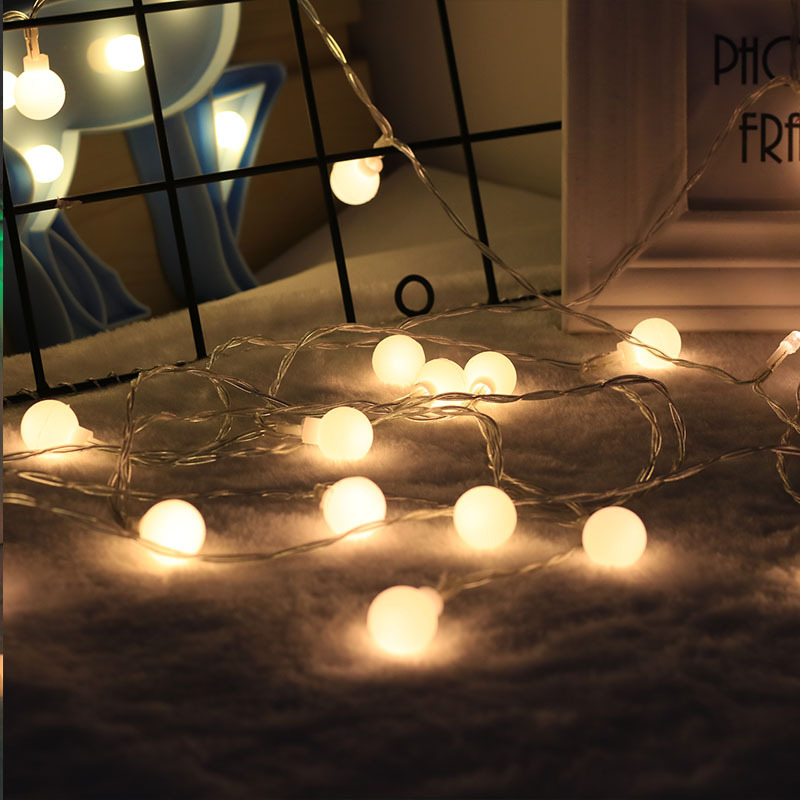 5M 50 LEDs Waterproof Battery Box Ball Bulb String Light with Remote Control for Christmas Party Decoration warm white