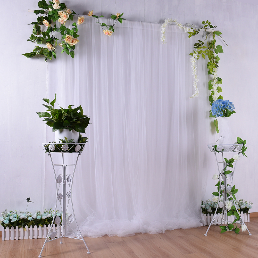 150x215cm Wedding Backdrop Party Curtain Baby Photography Background Birthday Decoration  white