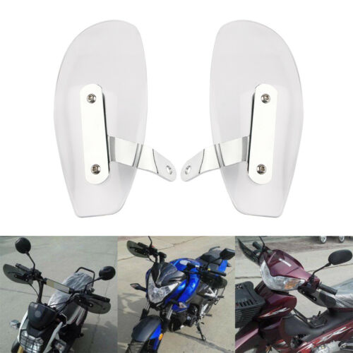 Motorcycle Hand Guard Handguard Wind Deflector Shield Protector For Honda 10mm Transparent