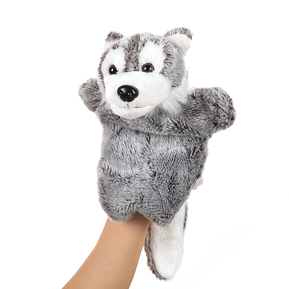 Plush Doll Interactive Animal Plush Hand Puppets for Storytelling Teaching Parent-child Little wolf