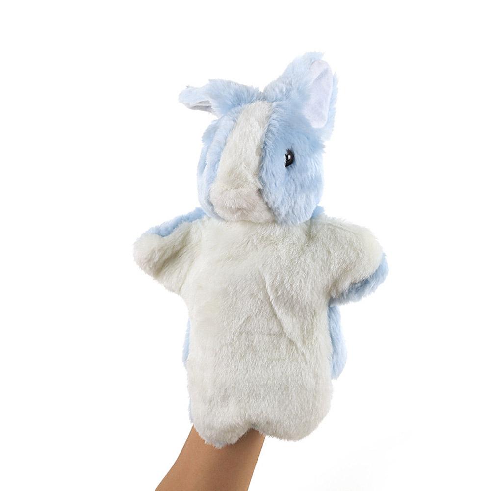 Plush Doll Interactive Animal Plush Hand Puppets for Teaching Parent-child Blue rabbit