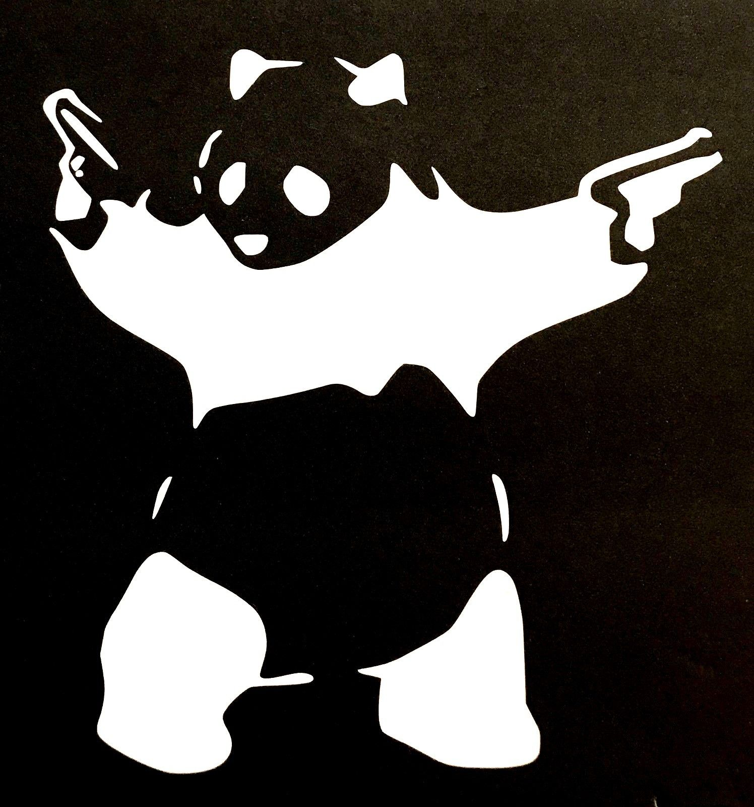 JDM Panda Racing HF Vinyl Motorcycle Car Sticker Decal Decoration