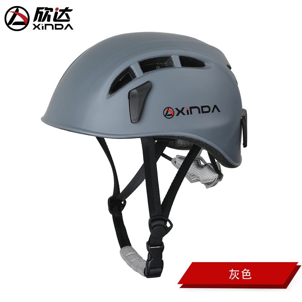 Outdoor Climbing Safety Helmet Hard Surface Hat Adjustable Helmet for Rescue Construction Climbing Work Helmet gray