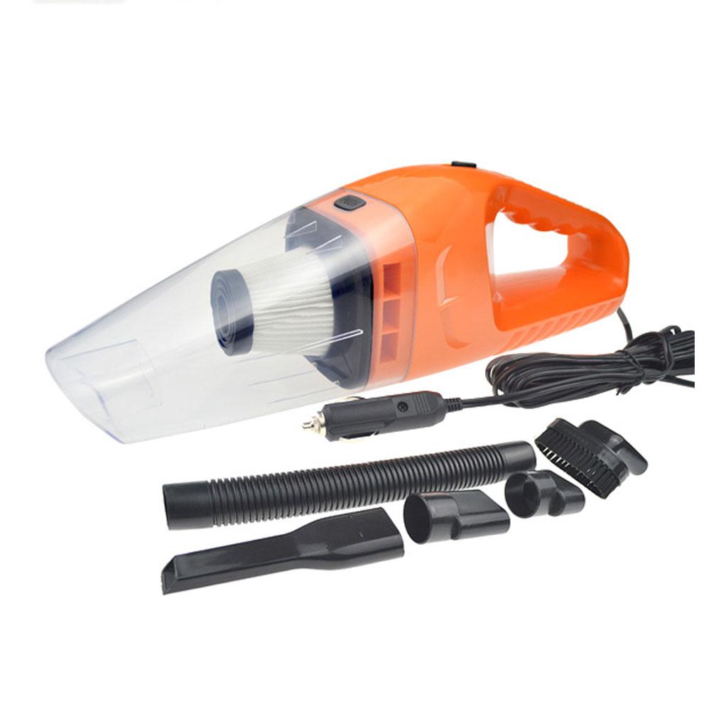 Car Vacuum Cleaner 150W 12V Portable Handheld Auto Vacuum Cleaner Wet Dry Dual Use Duster Orange