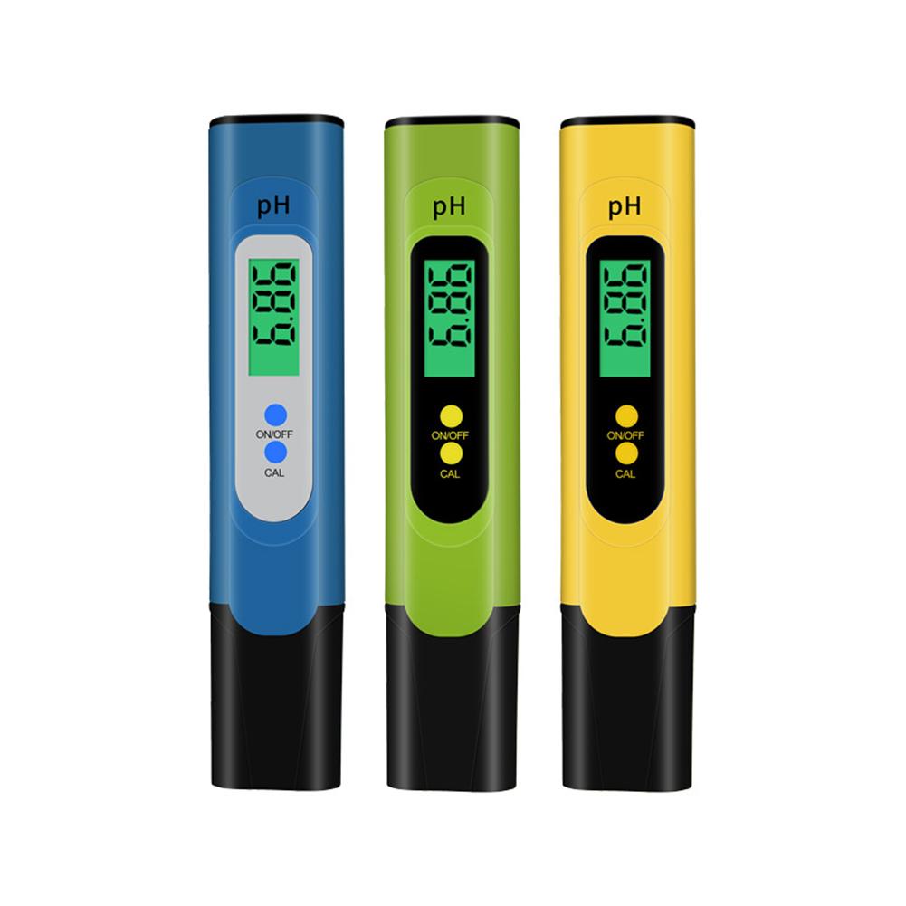 Backlit Ph Pen  Tester High-precision Portable Ph Meter Testing Instrument For Aquarium Fish Tanks blue