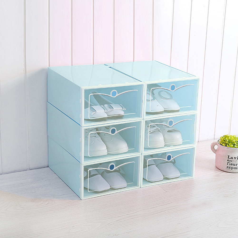 Transparent Shoes Storage Box with Cover