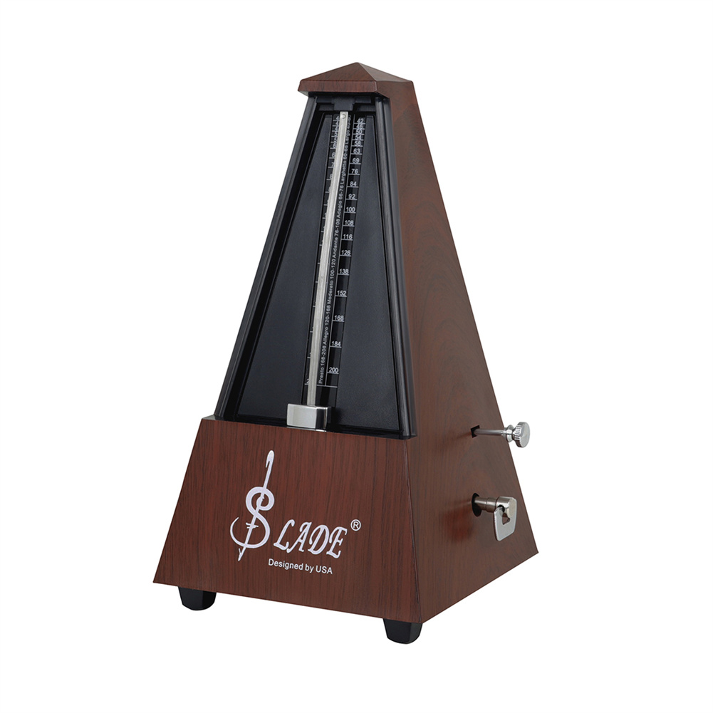 Mahogany Color Tower Mechanical Metronome Piano Grade Test Special Guitar Violin Guzheng Erhu Universal Rhythm Mahogany