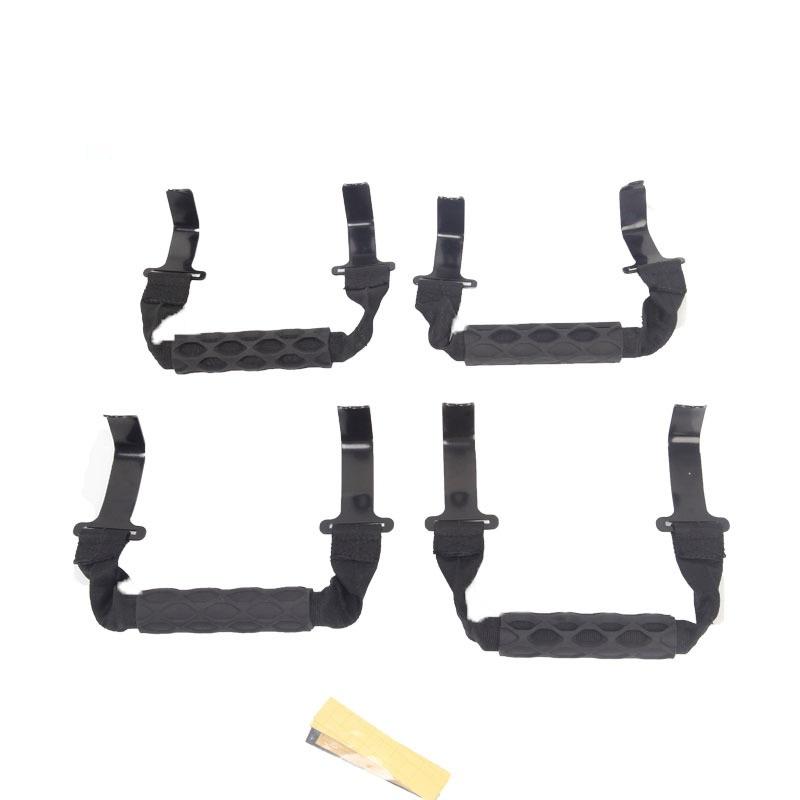 4pcs/set Front And Rear Sport Bar Grab  Handle Set For Wrangler JL 2018+ Black