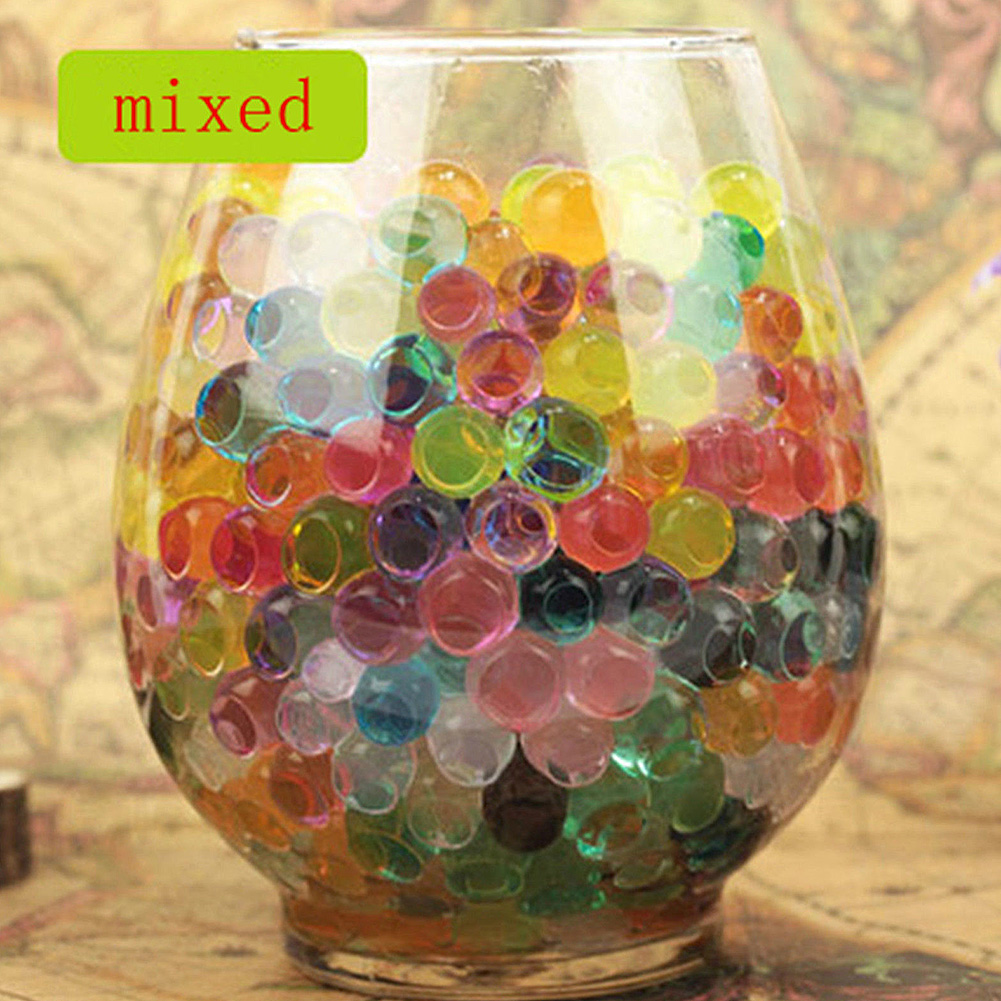 [EU Direct] Pack of 100 PCS Wedding Crystal Water Bubble Bead Used for Sensory Toys and Décor Vase Filler, Soil, Plant decoration, Bamboo Plants (Mixed Colors)