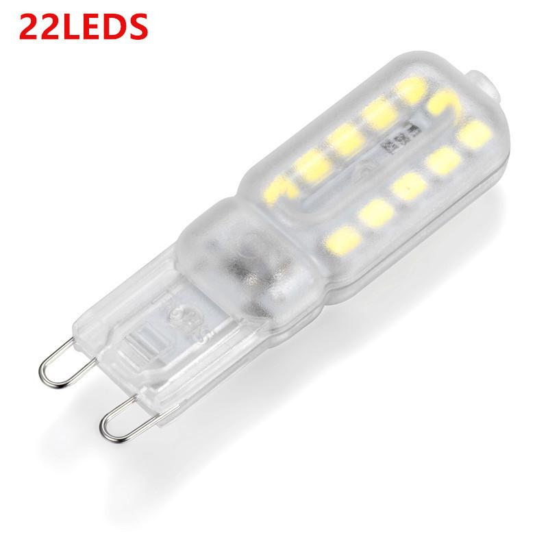 220V G9 LED Corn Light Bulb Dimmable 3W/5W Energy Saving for Crystal Lamp Corridor Lamp Transparent cover warm white 220V