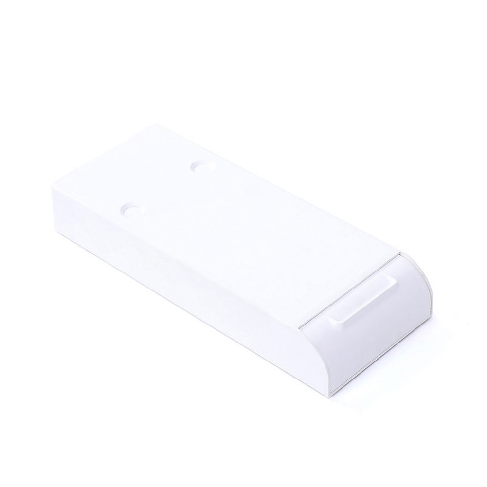 Under-table Storage Box Drawer Nail-free Paste Desktop Organizer with Lid white