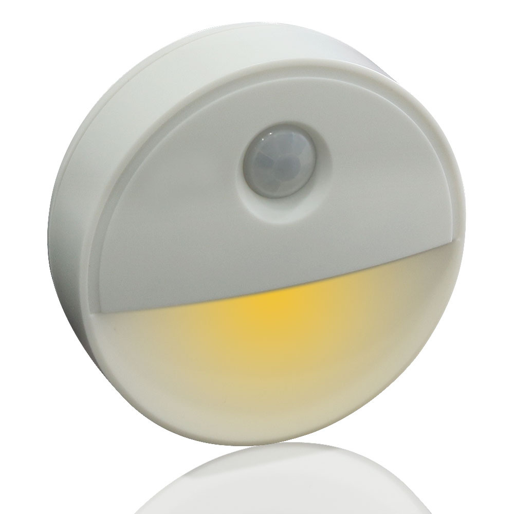 Round Shape Infrared Human Body Induction Lamp for Home Wall Cabinet Night Light  Warm white light