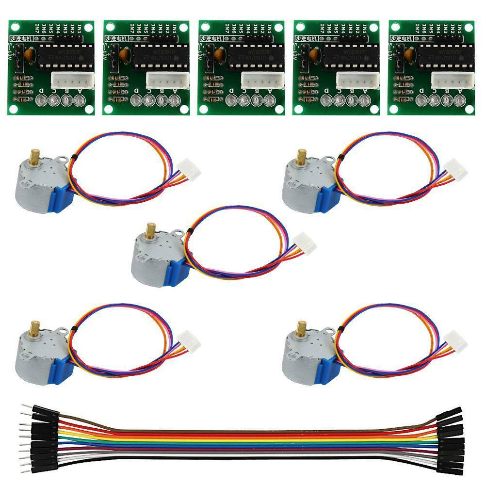 5Pcs 5V Stepper Motor with ULN2003 Speed Driver Controller Board Cable Kit 5-piece set