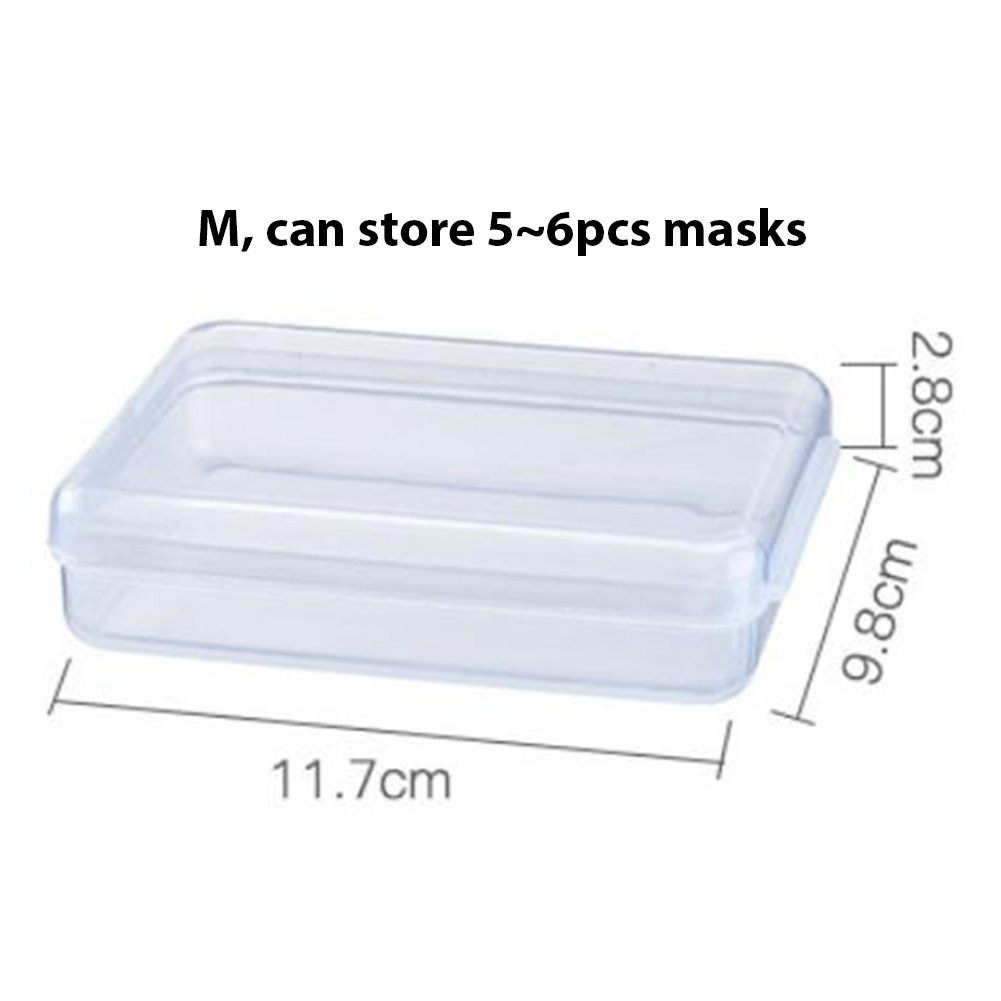 Plastic Portable Transparent Anti-dust Mask Storage Box Dustproof Pollution-Free Face Masks Container Disposable Mask Case 12 * 11 * 2.8