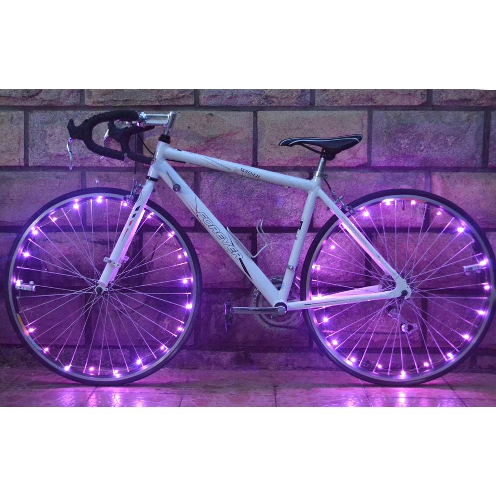 [EU Direct] 2.2m Ultra Bright 20-LED Bicycle Cycling Wheel Light Strings Colorful Bike Rim Spoke Light Tire Accessory
