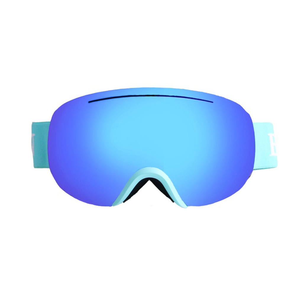 Large Sphere Ski Goggles Double Layers Adult Antifog Windproof Climbing Goggles Blue frame blue