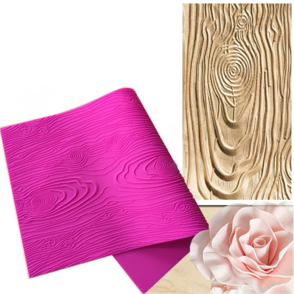DIY Large Size Tree Bark Texture Wood Pattern Silicone Mould Tools for Cake Decoration Random