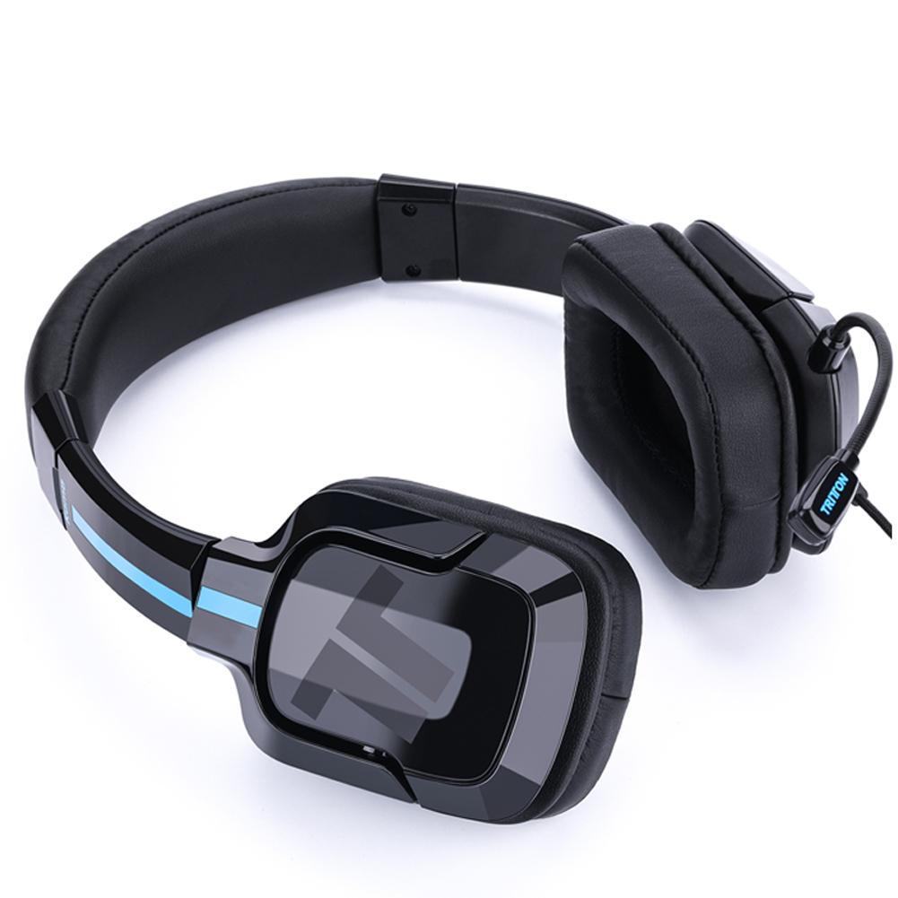 [US Direct] Original TRITTON Kama Plus Stereo Gaming Headset, Noise Cancelling Gaming Headphone, for PC, PS4, Xbox One, Mac, Laptop, Nintendo Switch (Black) Black/Orange