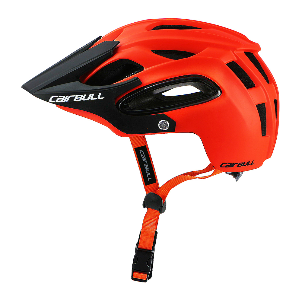 Shock-proof Bicycle Helmet Integrated Molding Breathable Cycling Helmet for Man Woman Orange_L (58-62CM)