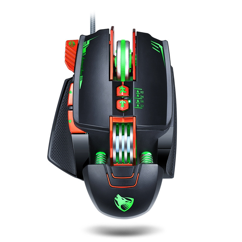 Computer Mouse English Edition V9 Mechanical Game Wired Mouse USB Mouse black