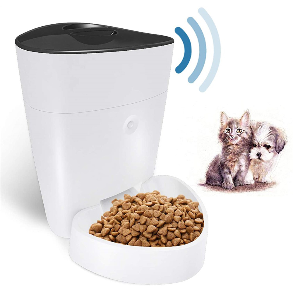 Automatic  Cat  Feeder 4l Wifi Smart Pet  Feeder Timer Dog  Cat Food  Dispenser white_wifi version