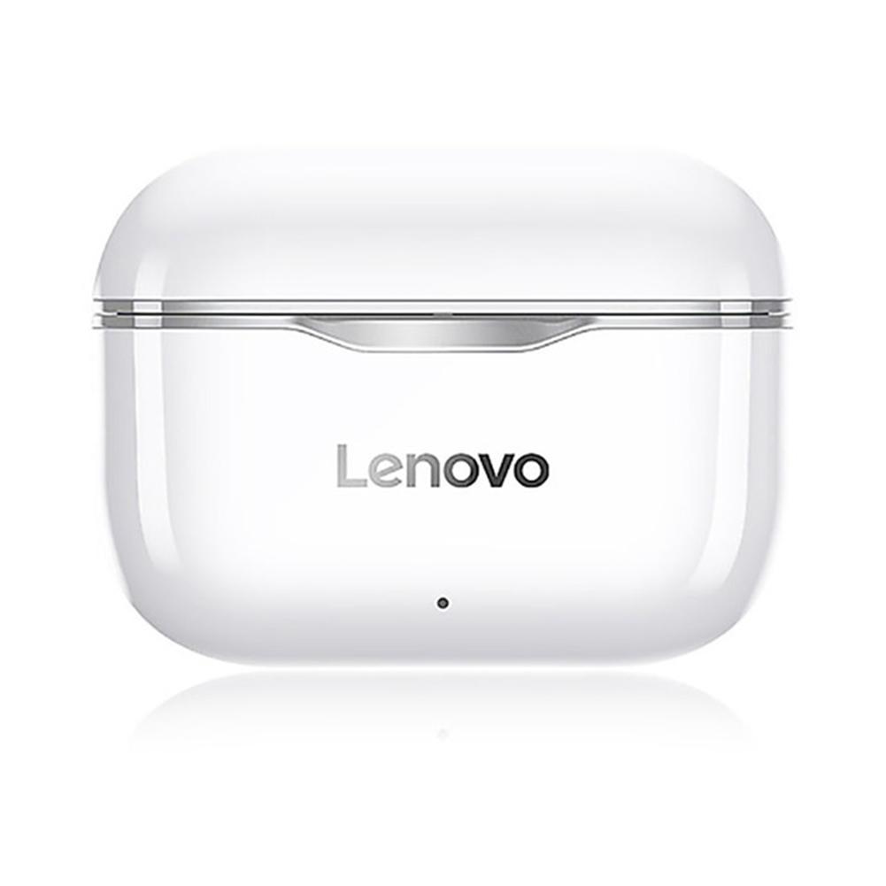 Original LENOVO Lp1 Tws Wireless Earphone Bluetooth 5.0 Dual Stereo Noise Reduction Bass Touch Control Earphones gray