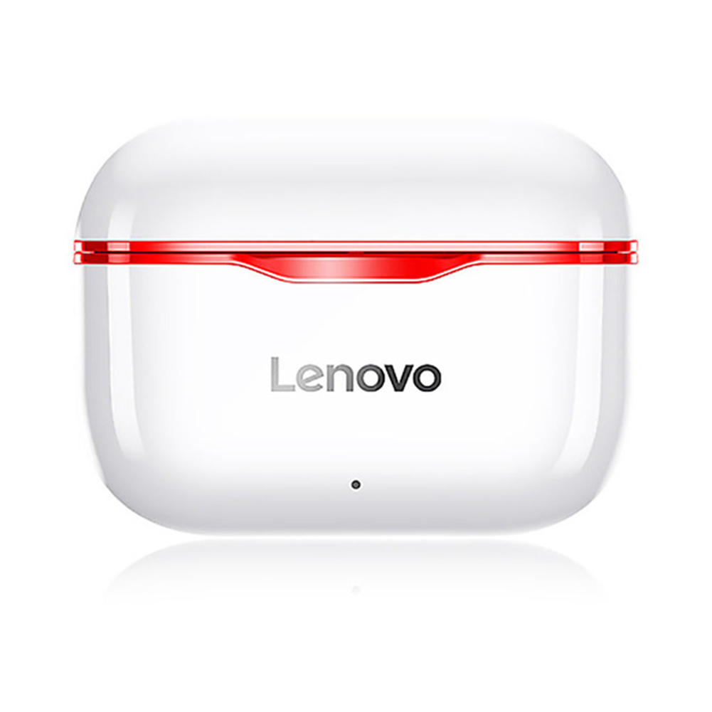 Original LENOVO Lp1 Tws Wireless Earphone Bluetooth 5.0 Dual Stereo Noise Reduction Bass Touch Control Earphones red