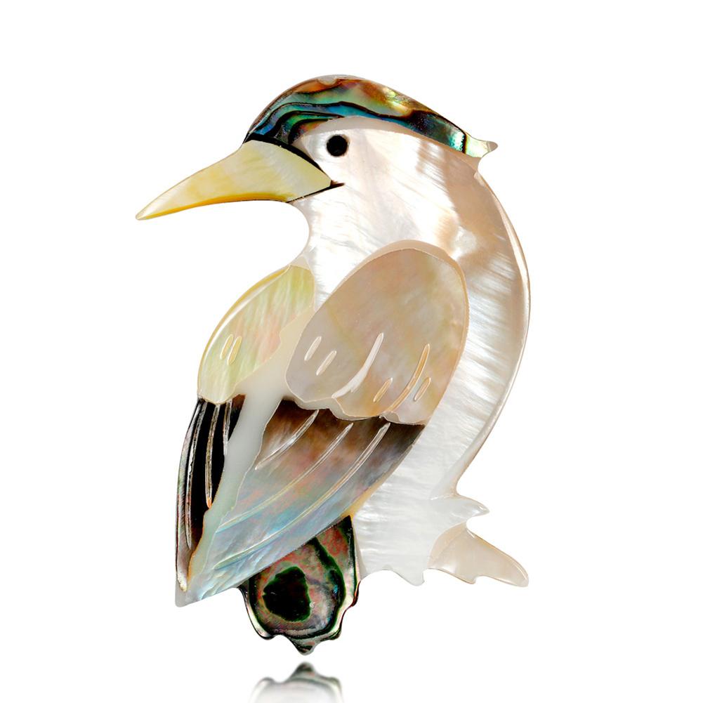 Fashion Retro Shell Bird Shape Brooches Fashionable High-end Breastpin for Women