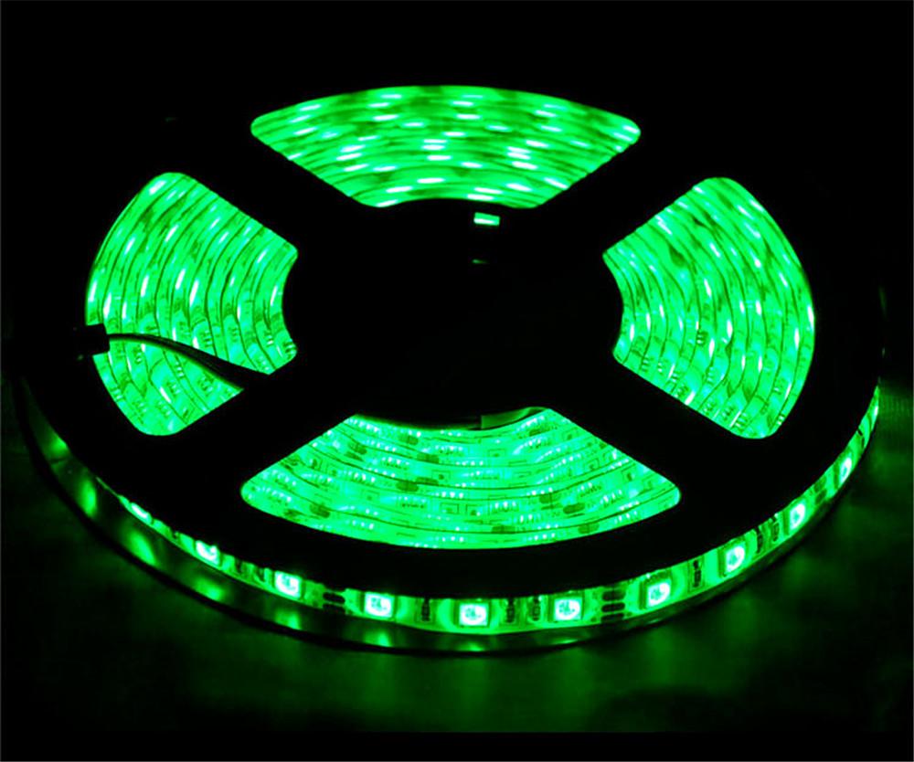 12V 300 LEDs SMD5050 5M/Roll Single Color Light Bar Waterproof DC LED Light Strips Green light