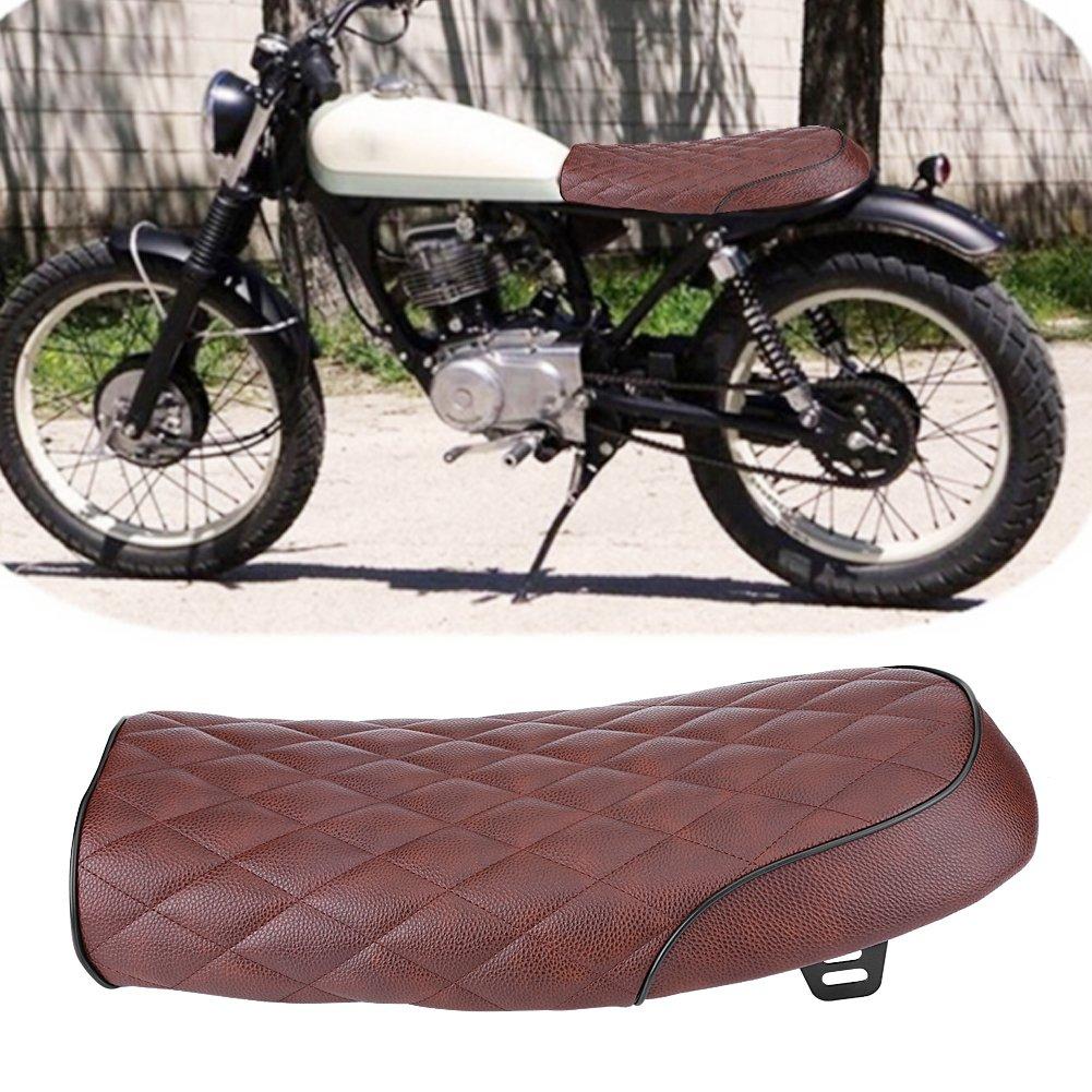 Motorcycle Brown Hump Universal Seat Cafe Racer Vintage Saddle For Honda for Yamaha Flat diamond brown