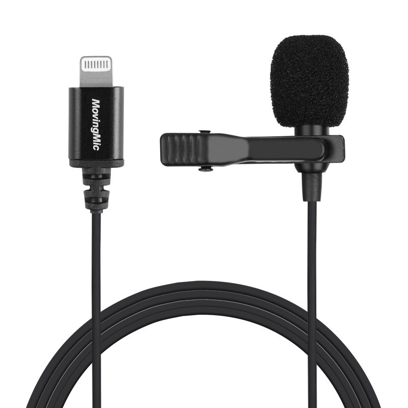 Professional Lapel Microphone for iphone Android Mobile Phone Collar-clip Microphone Apple interface