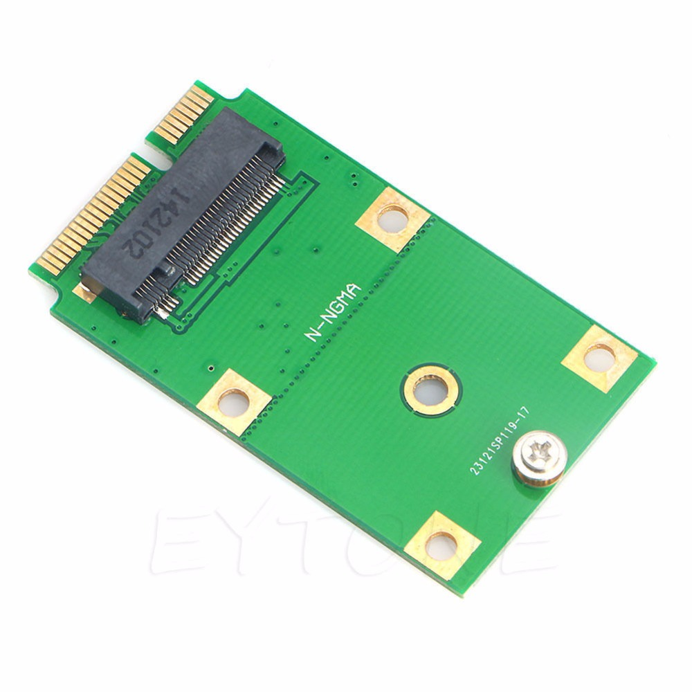 Portable M2 NGFF mSATA Replacement Converter M.2 Solid State Drive Adapter Card SSD green