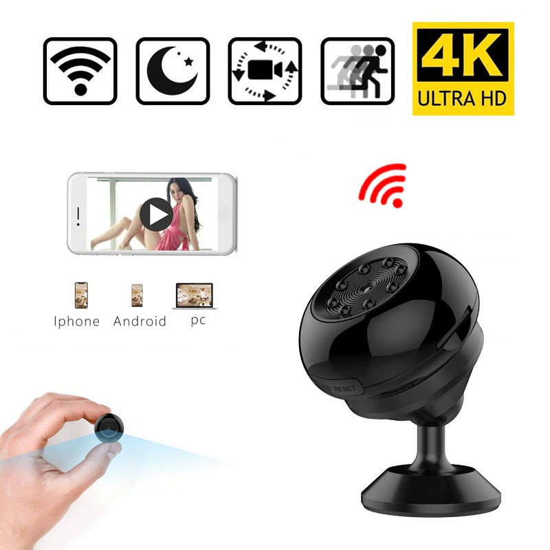 Camera WiFi HD 1080P 4K Sport DV Night Vision Motion Detection Video Audio Recorder Micro Security Camcorder black