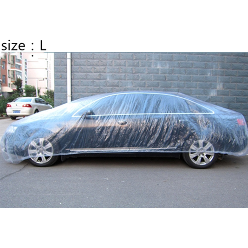 3 Size LDPE Film Outdoor Clear Full Car Cover