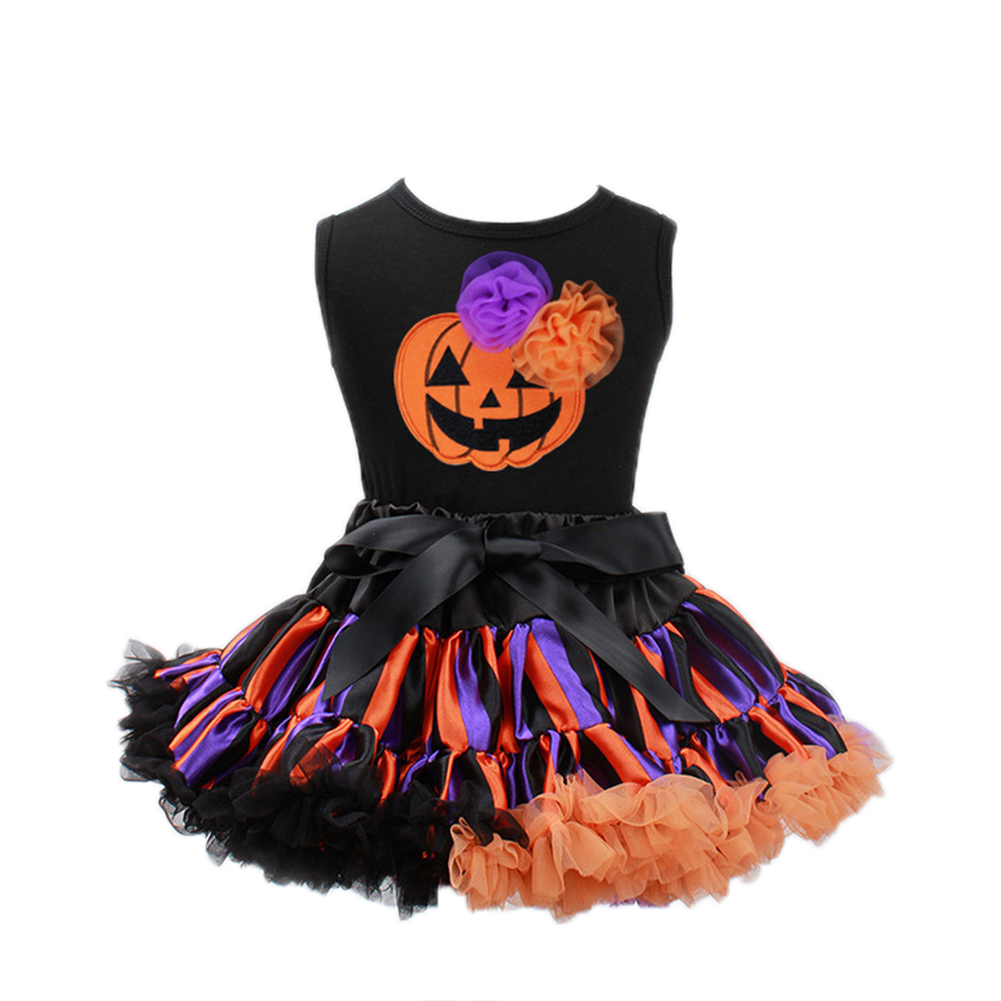 Baby Girls Tutu Dress Halloween Children Clothing Vest Skirt Party Dress Up Photo Props 2-7Y