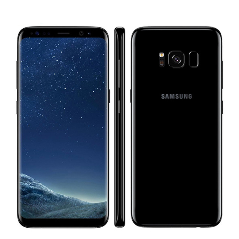 Unlocked Samsung Galaxy S8 Plus 4G RAM 64G ROM 6.2 inch Qualcomm Octa Core 4G LTE Mobile Phone  Single SIM black_64G
