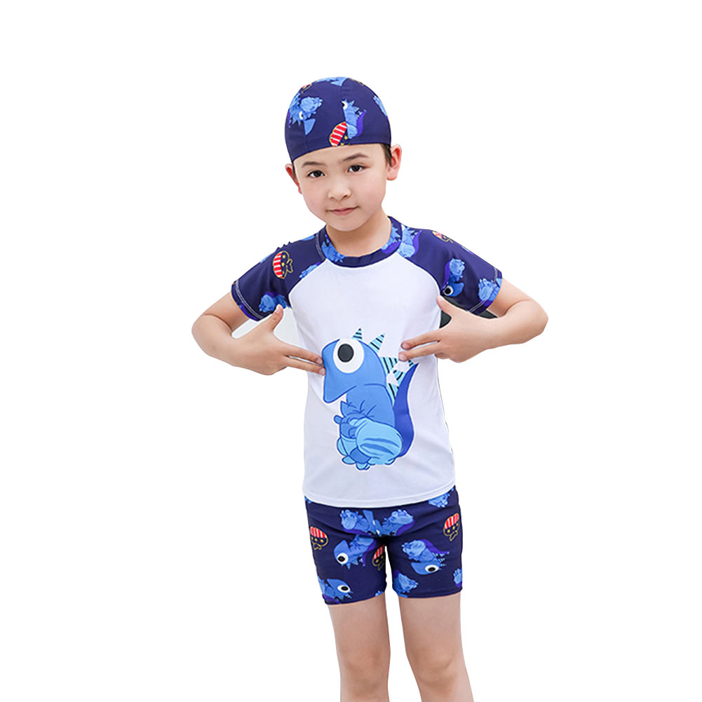 Boy Cartoon Dinosaur Pattern Swimsuit