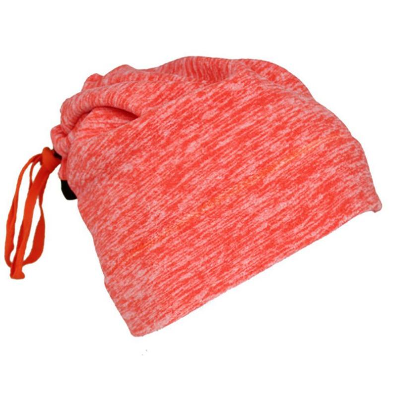 Warmful Scarf Hat Dual Purpose Autumn Winter Scarf Collar O Ring Neckerchief Warm Neck Fleece Thickened Neck Scarf YL-WB-06 orange_One size