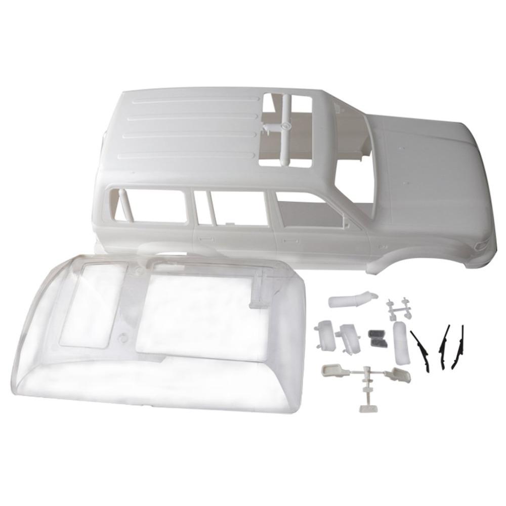 1/10 Land Cruiser LC80 HARD Plastic Body Shell 313mm Wheelbase for Axial SCX10 Rc Crawler Truck hz as shown