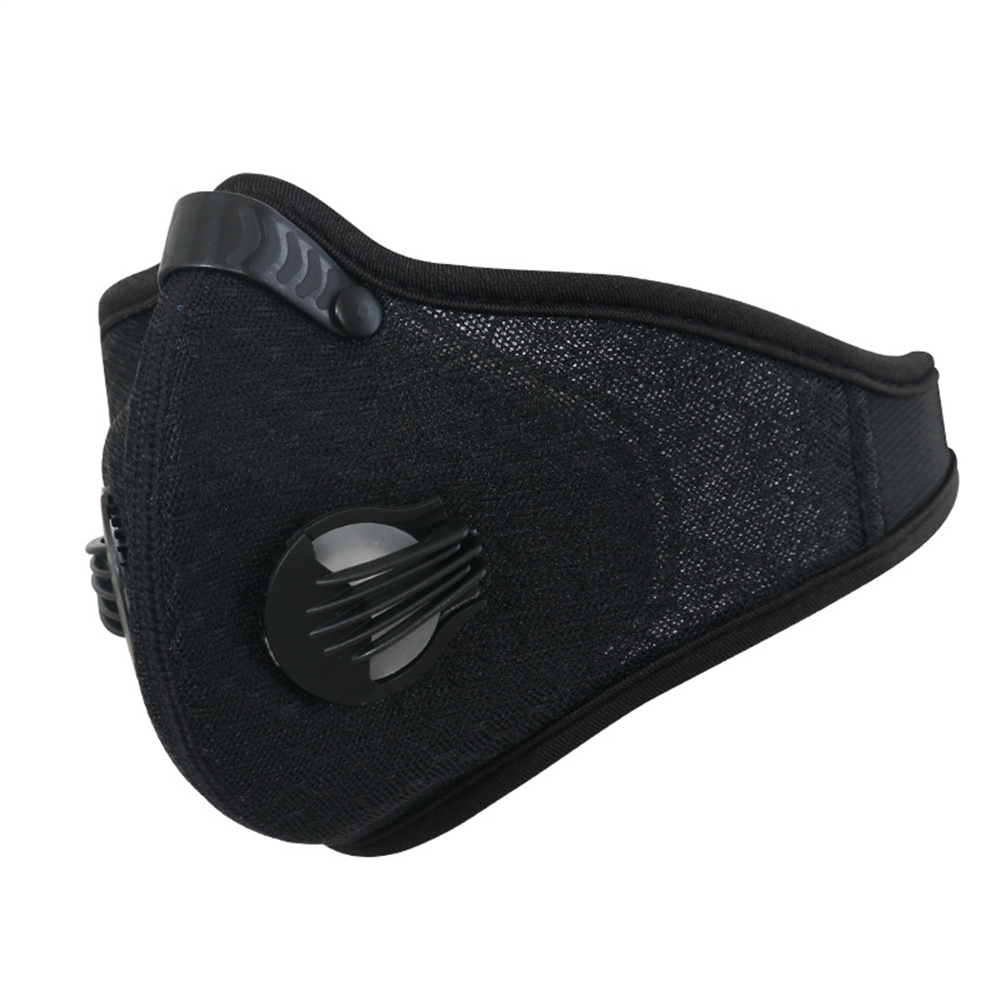 Cycling  Mask Breathable Dust-proof Anti-haze Activated Carbon Filter For Outdoor Sports Grid black_One size