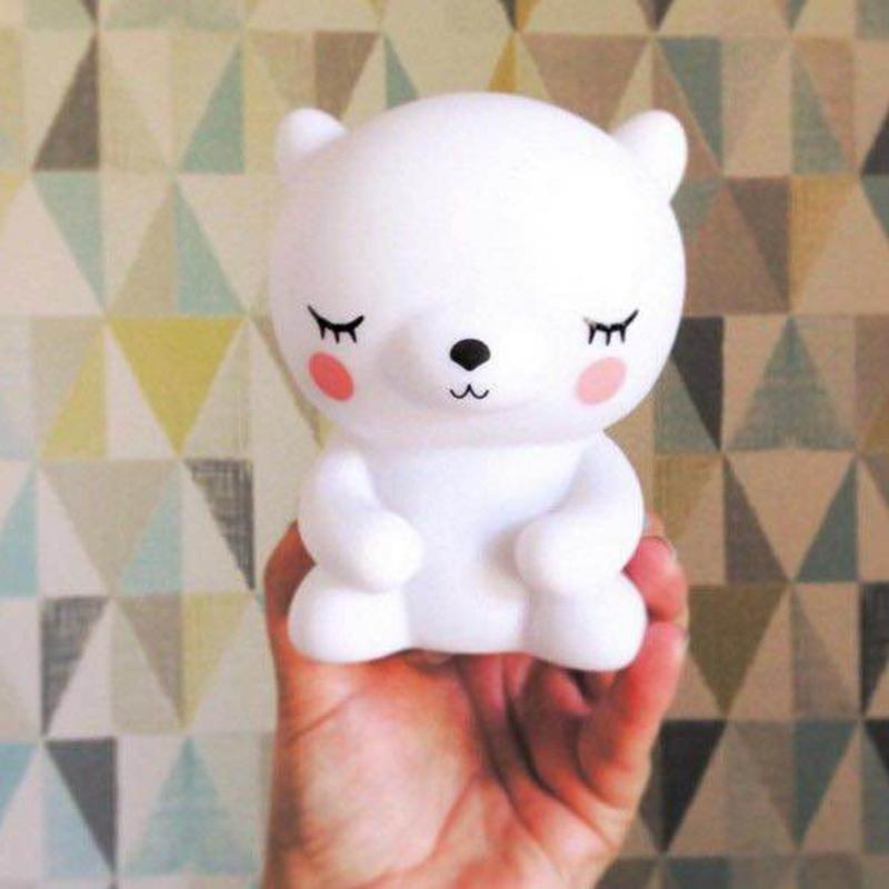 Creative Mini Panda Shape LED Night Lamp Toy Eyes-harmless Warm Light Nightlight