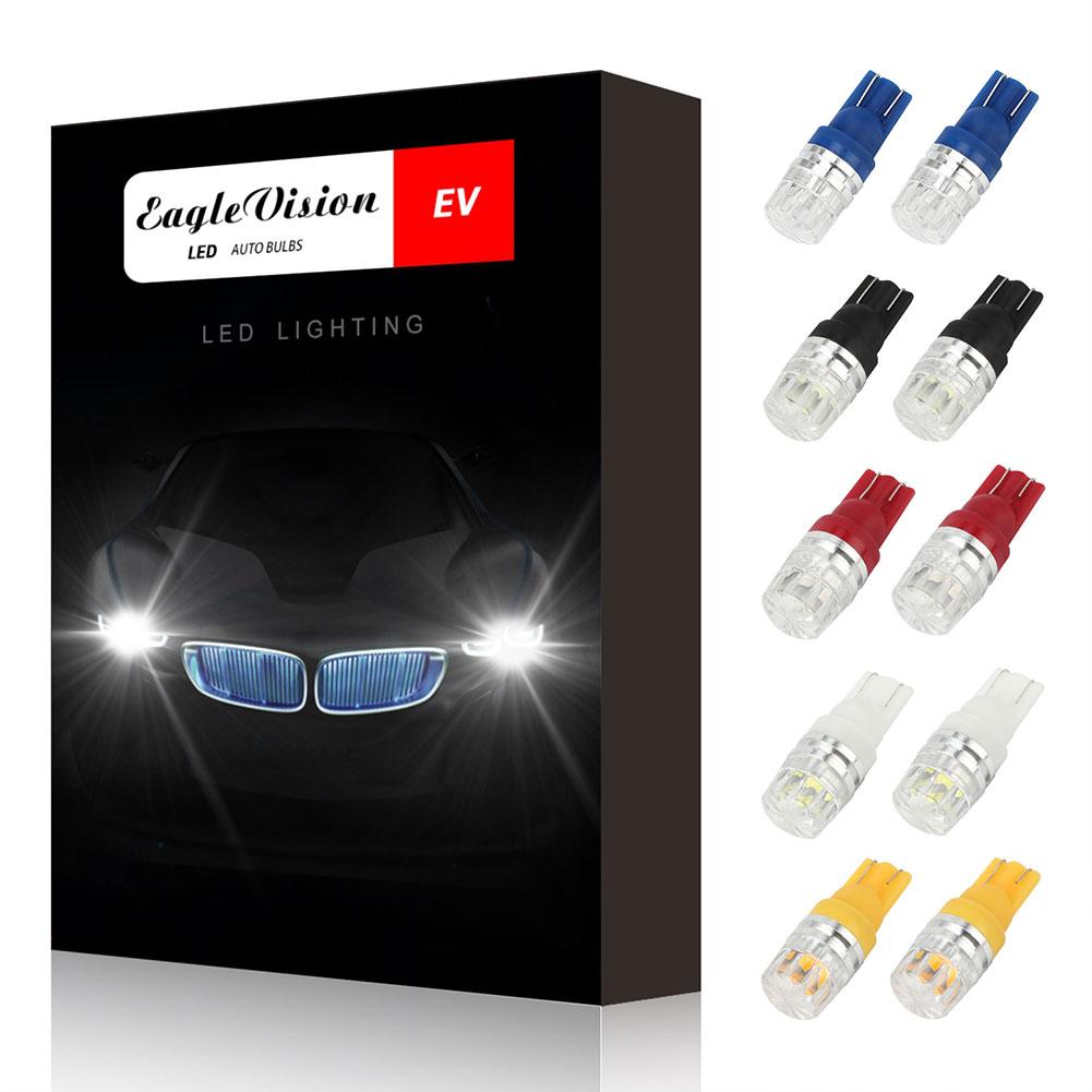 10pcs/set T10 LED Light Bulbs High Power Prismatic Lens Decoding Lamp Deep blue light