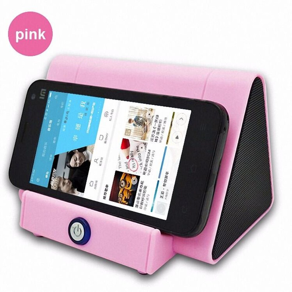 Mini Antomatic Induction Small Speaker Loud Speaker Pink