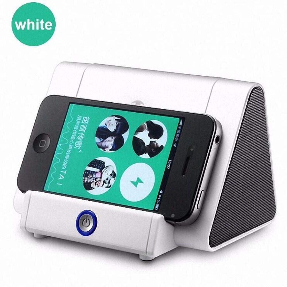 Mini Antomatic Induction Small Speaker Loud Speaker white