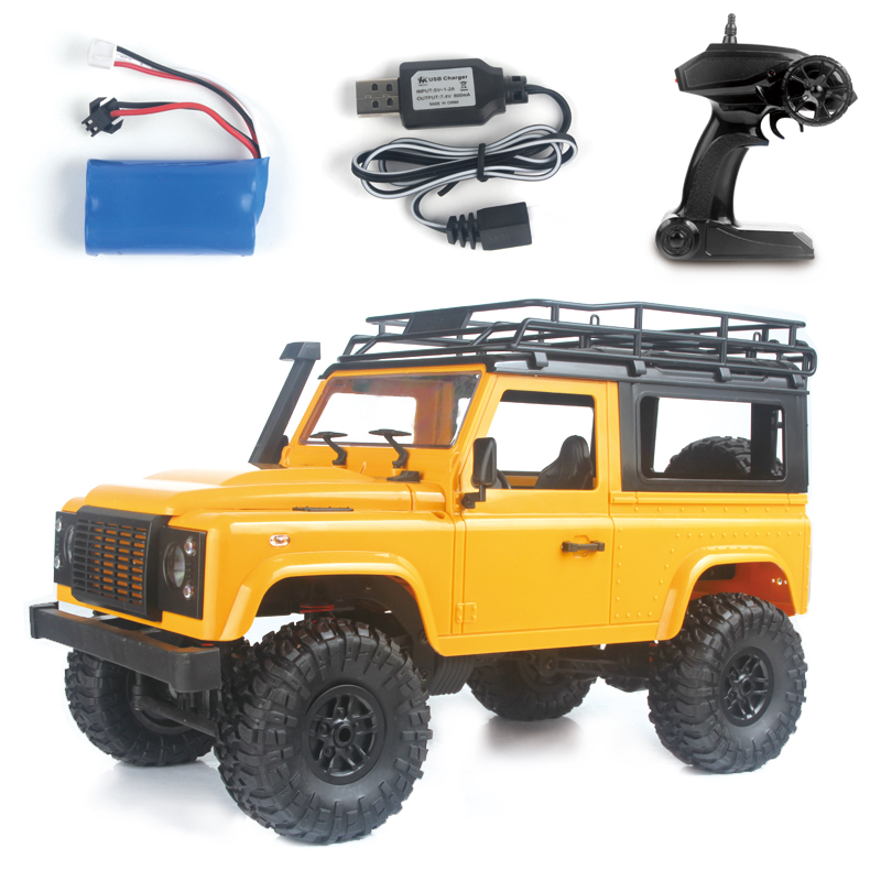1:12 2.4G Remote Control High Speed Off Road Truck Vehicle Toy RC Rock Crawler Buggy Climbing Car for PICKCAR D90 Kid Boy Toys Vehicle yellow