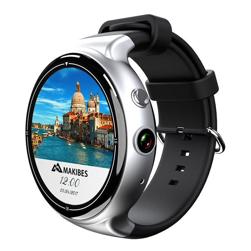 I4 Air Smart Watch Phone - 1 IMEI, 3G, 5MP Camera, Social Media, Pedometer, Heart Rate, Android OS (Silver)