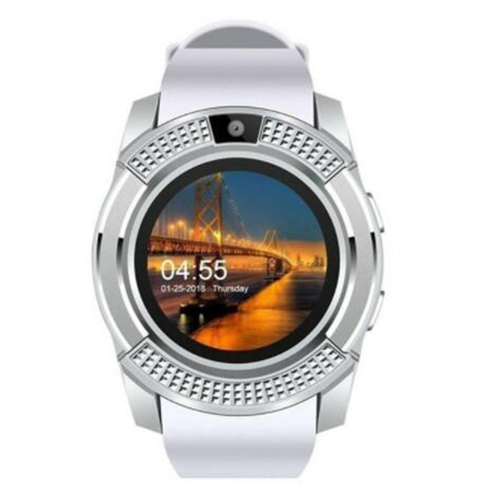 Y1 Bluetooth Smart Watch With Touch Screen Camera / SIM Card Slot Waterproof Smart Watch white
