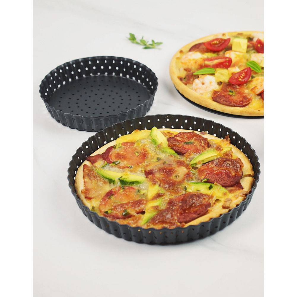 1pc 5Inches/8Inches/9Inches Simple Thicken Round Removable Bottom Non-stick Pan Pizza Cake Baking Tray Large